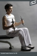 Dumbbell Seated Hammer Curl (B)