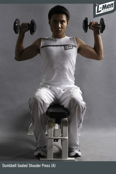 Dumbbell Seated Shoulder Press (A)