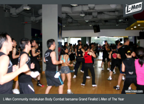 L-Men Community melakukan Body Combat bersama Grand Finalist L-Men of The Year