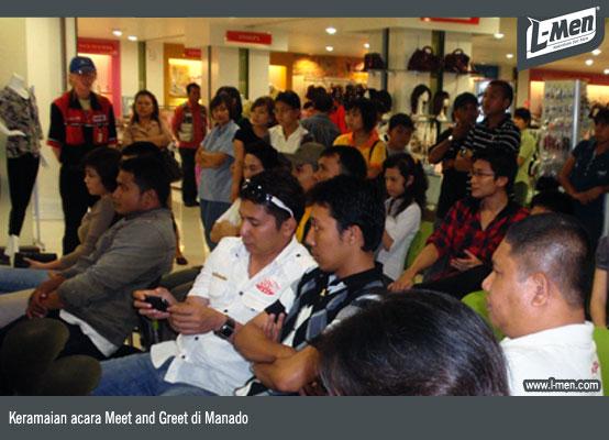 Keramaian acara Meet and Greet di Manado