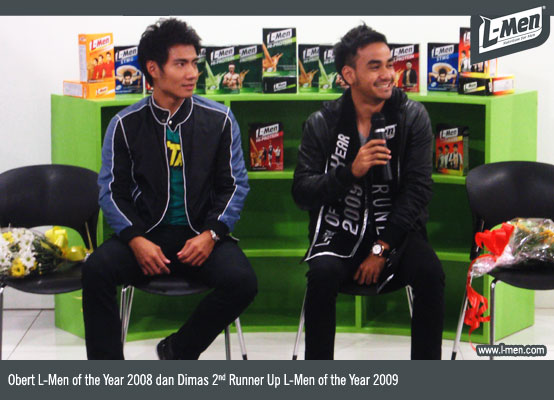 Obert L-Men of the Year 2008 dan Dimas 2nd Runner Up L-Men of the Year 2009