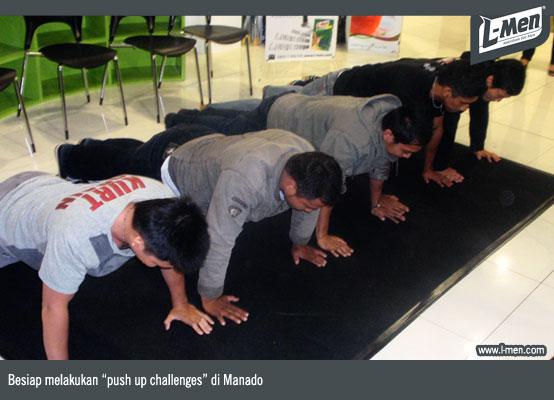 """Besiap melakukan """"push up challenges"""" di Manado"""