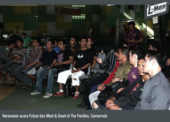 Keramaian acara Futsal dan Meet & Greet di The Pavilion, Samarinda