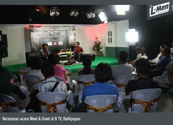 Keramaian acara Meet & Greet di B TV, Balikpapan