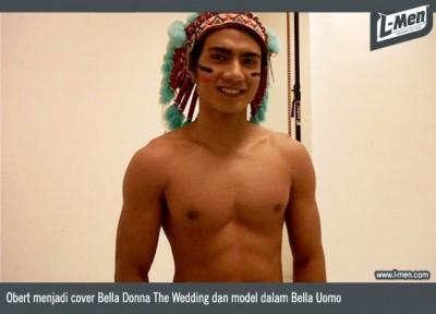 Obert dalam menjadi cover Bella Donna The Wedding dan model dalam Bella Uomo