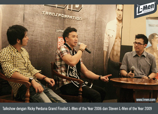 Ricky Perdana Grand Finalist L-Men of the Year 2006 dan Steven L-Men of the Year 2009