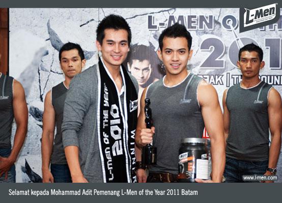 Selamat kepada Mohammad Adit Pemenang L-Men of the Year 2011 Batam