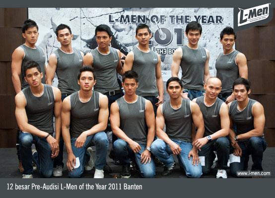 12 besar Pre-Audisi L-Men of the Year 2011 Banten