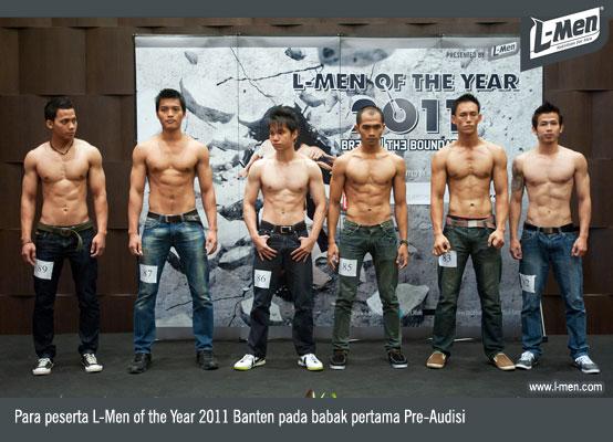 Para peserta L-Men of the Year 2011 Banten pada babak pertama Pre-Audisi