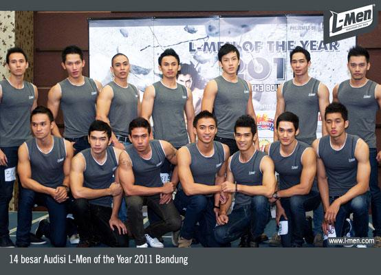 14 besar Audisi L-Men of the Year 2011 Bandung