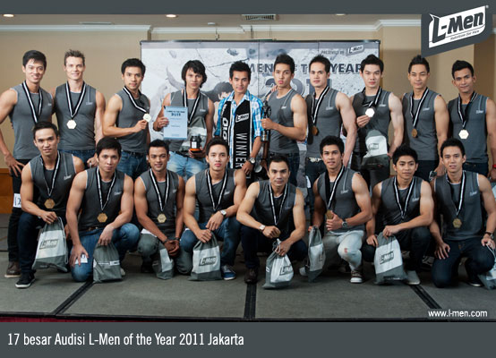 17 besar Audisi L-Men of the Year 2011 Jakarta