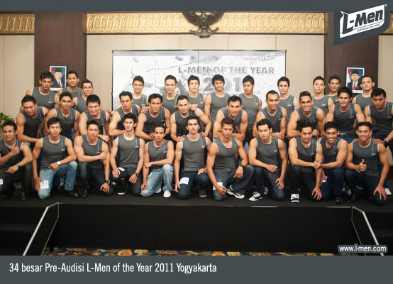 34 besar Pre-Audisi L-Men of the Year 2011 Yogyakarta