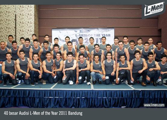 40 besar Audisi L-Men of the Year 2011 Bandung