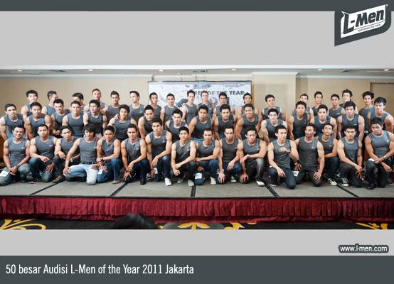 50 besar Audisi L-Men of the Year 2011 Jakarta