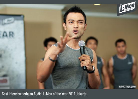 Sesi Interview terbuka Audisi L-Men of the Year 2011 Jakarta
