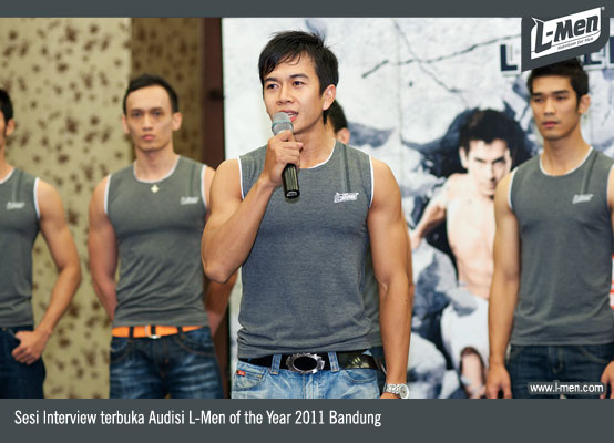 Sesi Interview terbuka Audisi L-Men of the Year 2011 Bandung