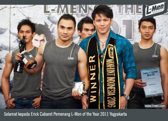 Selamat kepada Erick Cabaret Pemenang L-Men of the Year 2011 Yogyakarta