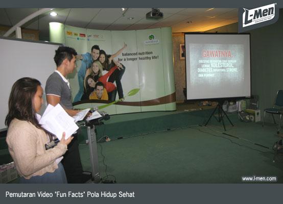 Pemutaran Video Fun Facts Pola Hidup Sehat