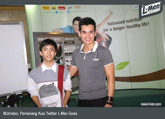 @Jimsbo, Pemenang Kuis Twitter L-Men Goes to School SMU 3 Jakarta