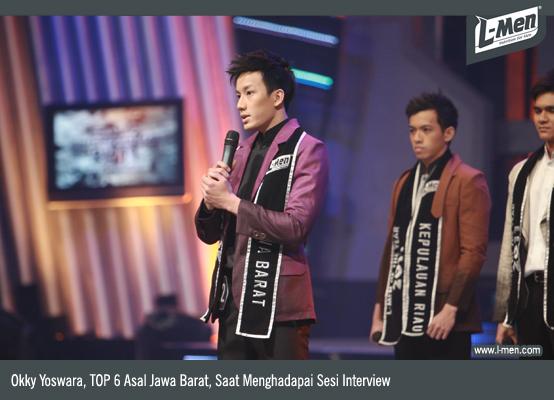 Okky Yoswara, top 6 asal Jawa Barat, saat menghadapi sesi interview