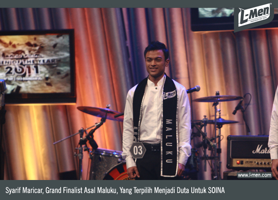 Pose top 3 L-Men of the Year 2011 setelah pengumuman