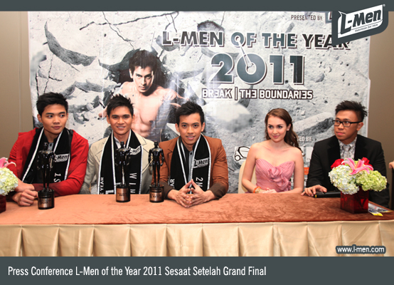 Press Conference L-Men of the Year 2011 sesaat setelah Grand Final