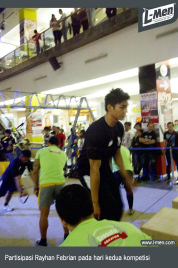 Partisipasi Rayhan Febrian pada hari kedua kompetisi