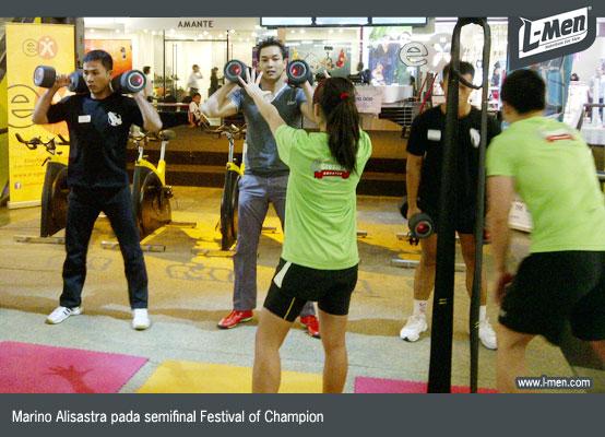 Marino Alisastra pada semifinal Festival of Champion