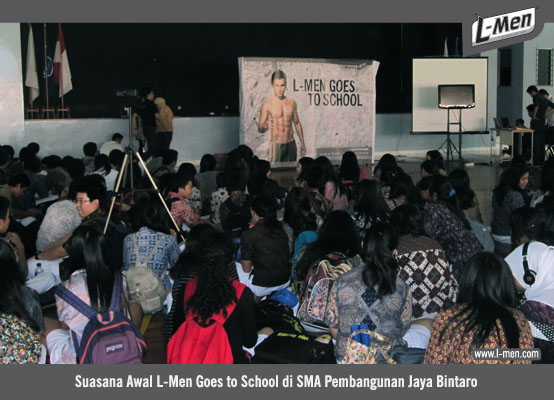 Suasan Awal L-Men Goes to School di SMA Pembangunan Jaya Bintaro