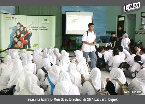 Suasana Acara L-Men Goes to School di SMA Lazuardi Depok