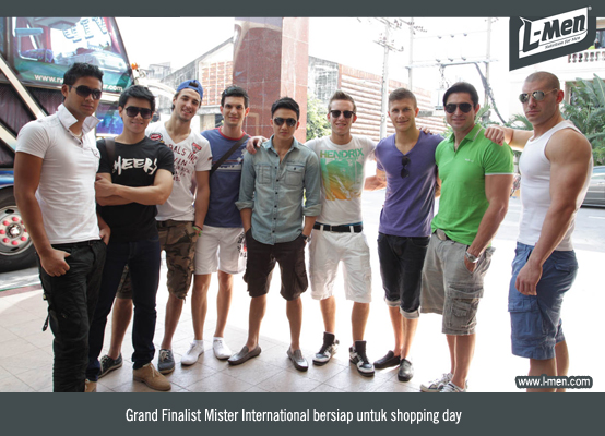 Grand Finalist Mister International bersiap untuk shopping day