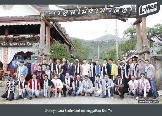 Saatnya para kontestant meninggalkan Kao Yai