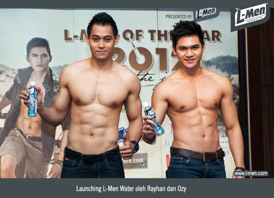 Launching L-Men Water oleh Rayhan dan Ozy