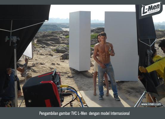 Pengambilan gambar TVC L-Men  dengan model Internasional