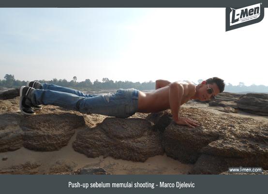 Push-up sebelum memulai shooting - Marco Djelevic