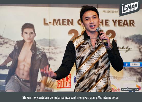 Steven menceritakan pengalamannya saat mengikuti ajang Mr. International
