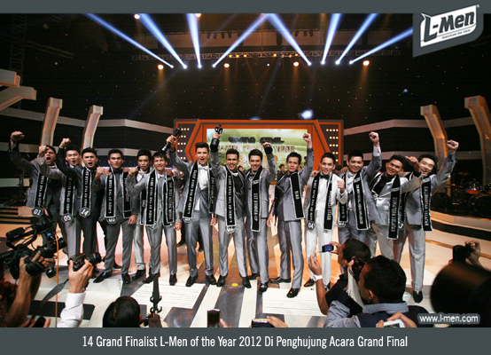 14 Grand Finalist L-Men of the Year 2012 Di Penghujung Acara Grand Final