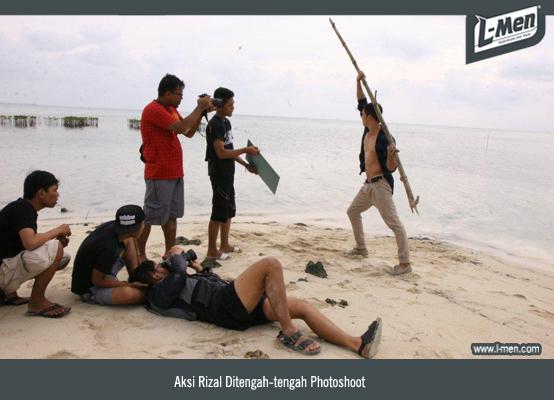 Aksi Rizal Ditengah-tengah Photoshoot