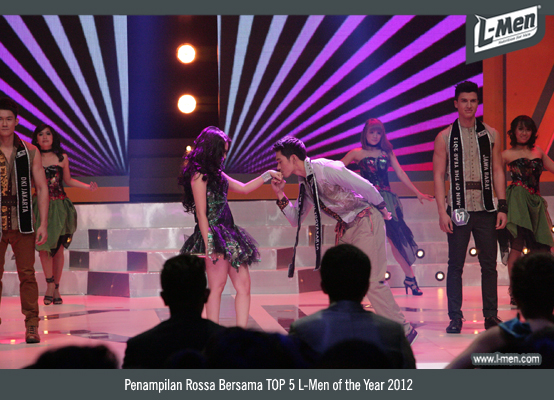 Penampilan Rossa Bersama TOP 5 L-Men of the Year 2012