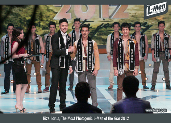 Rizal Idrus, The Most Photogenic L-Men of the Year 2012