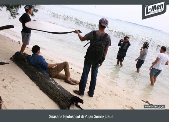 Suasana Photoshoot di Pulau Semak Daun