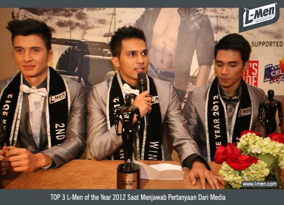 TOP 3 L-Men of the Year 2012 Saat Menjawab Pertanyaan Dari Media