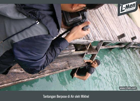 Tantangan Berpose di Air oleh Mikhel
